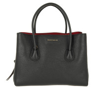 Tasche - Celly Leather Handbag Nero/Merlot
