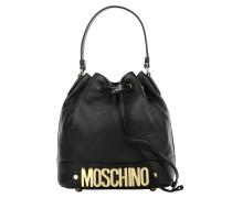 Logo Medium Bucket Bag Black Beuteltasche