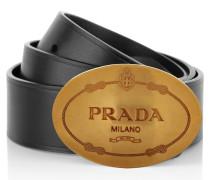 Kleinleder - Belt With Logo Buckle Nero