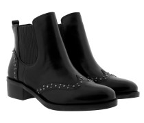 Signature Burn Calf Cathi Boots Casual Black Schuhe
