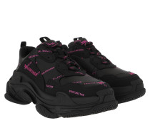 Sneakers Triple S All Over Logo Black/Pink