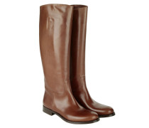 Flat No Zip Boot Brown Schuhe braun