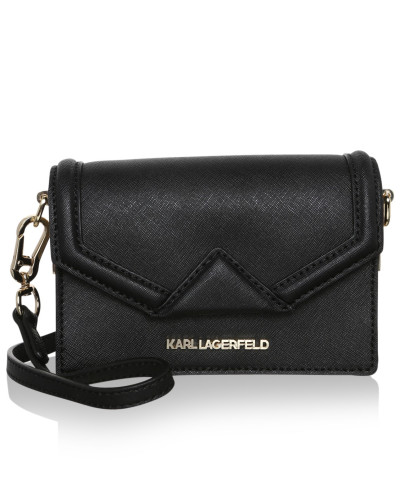 karl lagerfeld damen karl lagerfeld tasche k klassik super mini crossbody black gold in. Black Bedroom Furniture Sets. Home Design Ideas