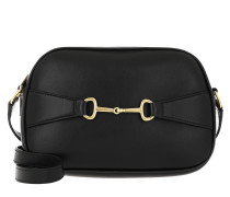Umhängetasche Crécy Camera Bag Shiny Lambskin Black