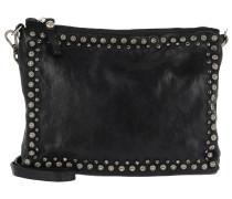 Pochette Shoulder Bag Studs/Strass Nero Umhängetasche