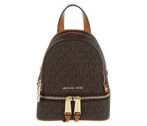 Rhea Zip XS Messenger Backpack Brown Rucksack