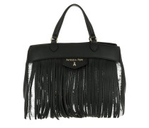 Fringed Bag Black Silver Paillettes Umhängetasche silber