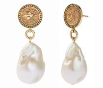 Ohrringe Amulet Pearl Drop Earrings Peace & Love