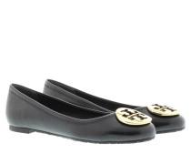 Tory Burch Ballerinas - Reva Ballet Mestico Leather Ballerina Black/Gold - in schwarz - Ballerinas für Damen