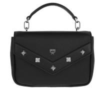 Rosalind Studs Shoulder Bag Medium Black Umhängetasche