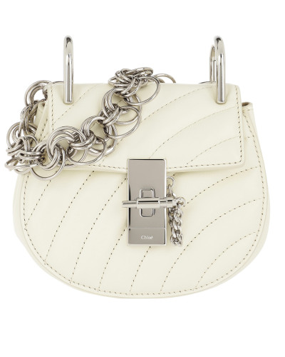 Drew Bijou Nano Quilted Leather Natural White Tasche