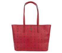 Anya Top Zip Shopper Medium Ruby Red