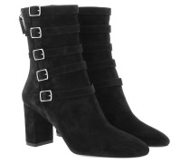 Boots Lou Buckle Ankle Suede Black