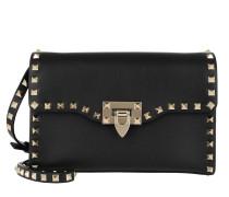 Umhängetasche Rockstud Crossbody Bag Small Leather Black