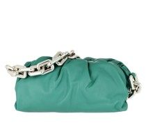 Hobo Bag The Chain Medium Pouch Leather Light Blue