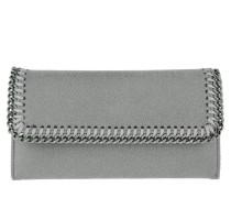Continental Flap Wallet Shaggy Deer Light Grey Portemonnaie grau
