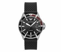 Uhren Men Three-Hand Mesh Silicone Watch