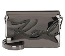 K/Signature Gloss Shoulderbag Nickel