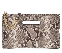Rosalie LG Clutch Embossed Leather Natural