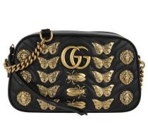 GG Marmont Animal Studs Shoulder Bag Black Umhängetasche
