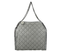 Small Tote Quilted Shaggy Deer Grey