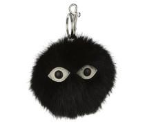 Fur Free Two Eyes Keychain Black Schlüsselanhänger