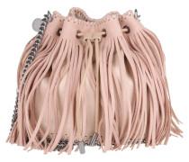Stella Mc Cartney Tasche - Falabella Shaggy Deer Small Bucket Bag Fringed Powder - in rosa - Umhängetasche für Damen