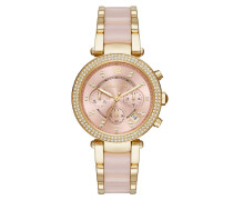Armbanduhr - Parker Pavé Gold-Tone Rose Acetate Watch