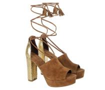 Sandalen - Vichy Sandal Suede/Lucy Python Cognac/Gold