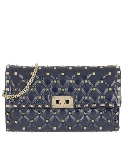 Umhängetasche Rockstud Spike Crossbody Bag Patent Small Pure Blue blau