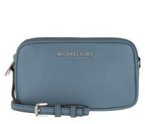 Tasche - Bedford MD Double Zip Crossbody Bag Leather Denim - in blau
