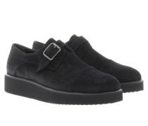 King Crosta Flats With Buckle Costa Negro Schuhe schwarz