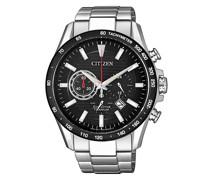Uhr Titanium Wristwatch Silver Black