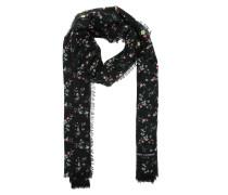 Jardin Fleurs Wool Scarf Black Schal schwarz
