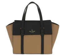Small Abigail Satchel Bag Hazel/Black braun