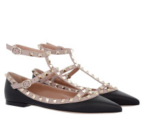 Ballerinas Rockstud Black Powder gold