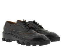 Loafers & Slippers - Brogue Trimming Loafer Black