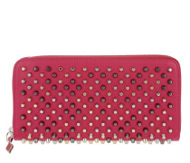 Panettone Spikes Zipped Continental Wallet Rosa/Multimetal Portemonnaie