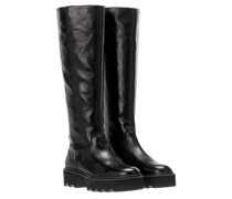 Boots Fara Zip Leather Black