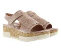 Tropez Plateau Sandal Crosta New Nude Sandalen rosa