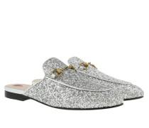 Princeton Glitter Slipper Argento Schuhe