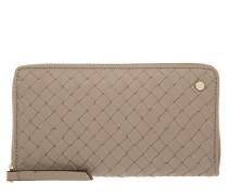 Kleinleder - Piuma Braided Calf Leather Wallet Cashmere