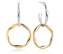 Ohrringe Cetara Pianura Due Earrings 18K Gold Plated