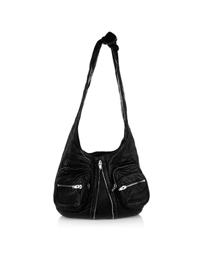alexander wang damen alexander wang tasche donna washed black in schwarz aus glattleder. Black Bedroom Furniture Sets. Home Design Ideas