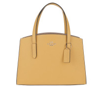 Tote Polished Pebble Leather Charlie Carryall Sunlight