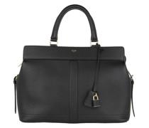 Tote Medium Cabas De France Handle Bag Leather Black