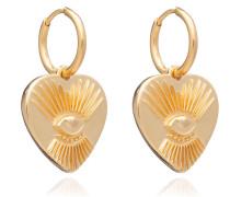 Ohrringe Protective Tatoo Heart Earrings Yellow Gold