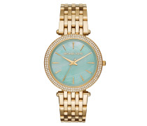 Armbanduhr - Darcie Pavé Gold-Tone Turquoise Watch