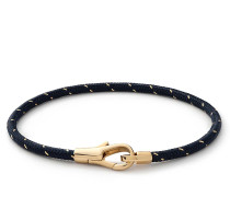 Armband Knox Rope Bracelet Vermeil Polished S Navy/Gold
