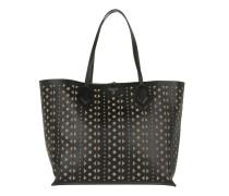 Amina Shopper Bag Double Nero/Fango Umhängetasche beige